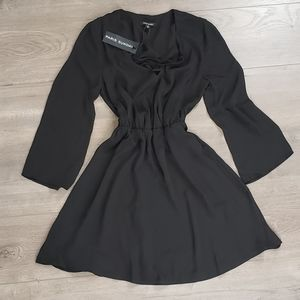 Paris Sunday Black Chiffon Dress